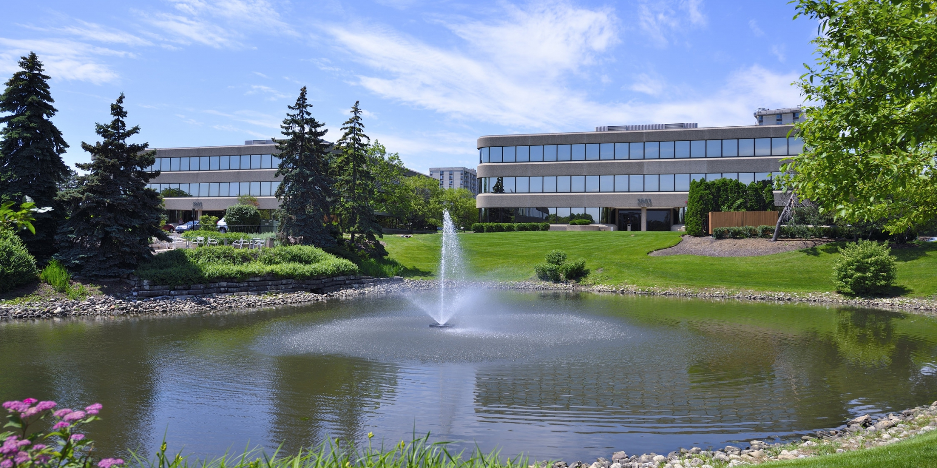 Oak Brook - pond - Adventus Realty